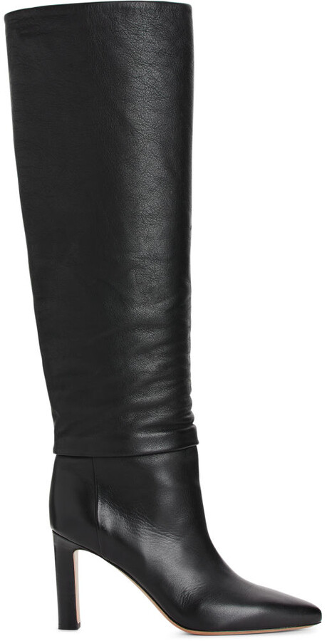 Arket Knee-High Slouch Leather Boots