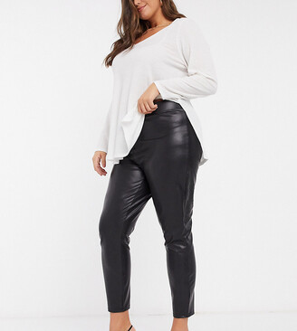 Only Curve coated legging in black