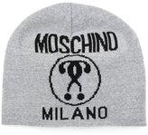 Moschino knitted logo beanie
