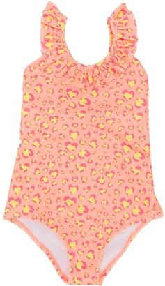 Sunuva Heart Print Ruffle Swimsuit