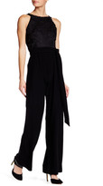 Eva Franco Amelia Open Lace Pleated Jumpsuit
