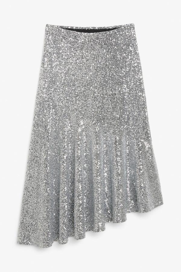Monki Midi sequin skirt