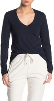 James Perse Solid V-Neck Long Sleeve T-Shirt