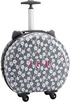 Hard-Sided Round Cat Carry On, Grey Ditsy Floral