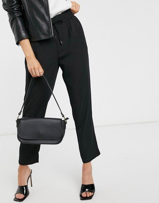 Vila tie waist pants in black