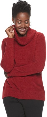 Croft & Barrow Women's Cowlneck Tunic Sweater