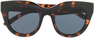 Le Specs Thick Frame Tortoiseshell Sunglasses