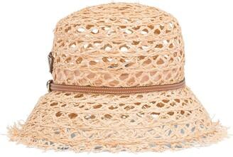 Prada Logo Plaque Sun Hat