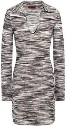 Missoni Crochet-knit Wool Mini Dress