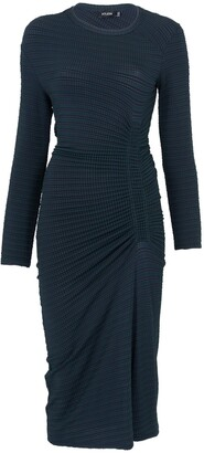 Atlein long sleeve ruched dress