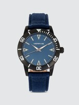 Thumbnail for your product : Morphic M85 Series 41mm Canvas Leather Watch