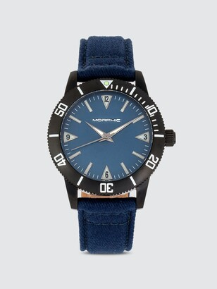 Morphic M85 Series 41mm Canvas Leather Watch