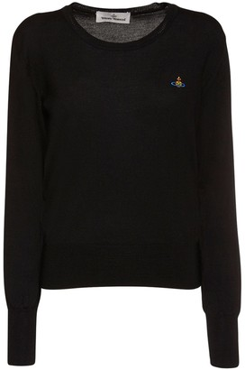 Vivienne Westwood Logo Embroidered Wool Knit Sweater
