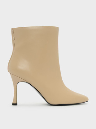 Charles & Keith Mini Square Toe Boots