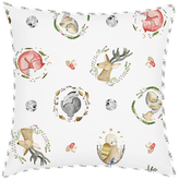 Oliver Gal Woodland Critters Cotton Mini Pillow