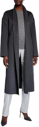 Neiman Marcus Double Face Cashmere Long Wrap Coat