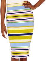 Liz Claiborne Striped Midi Skirt - Tall