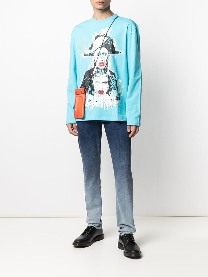 Thumbnail for your product : Charles Jeffrey Loverboy Graphic Print Long-Sleeve T-Shirt