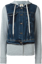 Semi-Couture Semicouture denim layered zipped hoody