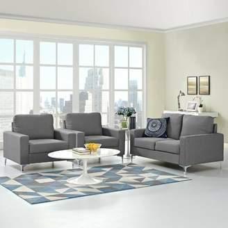 Hollander Orren Ellis 3 Piece Living Room Set Orren Ellis Upholstery Color: Gray