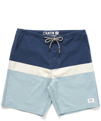 Katin Stanley Stripe Swim Trunk Navy 36