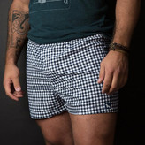 Blade + Blue Dark Navy & White Gingham Boxer Short - Brian