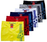 Crazy Cool Men's Seamless Boxer Brief Stretchable Underwear 6-pcs Set, Assorted Colors