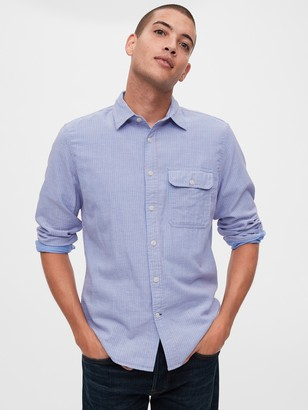 Gap Double-Face Shirt in Untucked Fit