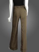 Cuffed High-Waisted Wide-Leg Pant