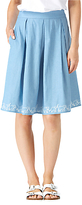 Sugarhill Boutique Fiona Ellie Embroidered Skirt, Blue/White
