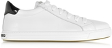DSQUARED2 Tennis Club White Leather and Black Patent Leather Men's Sneaker