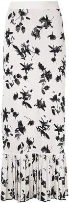 Derek Lam Floral Jacquard-Woven Long Skirt