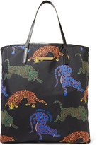 Stella McCartney Faux leather-trimmed printed shell tote