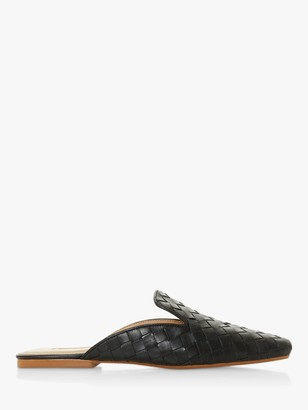 Dune Gwynith Woven Leather Flat Mules