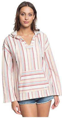 Roxy Call Of The Ocean (Snow White/Bruel Stripes) Women's Clothing