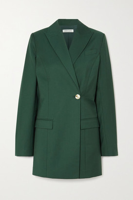 ANNA QUAN Sienna Double-breasted Twill Blazer - Green