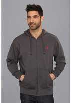 U.S. Polo Assn. Full Zip Long Sleeve Hoodie with Small Pony