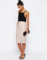 Asos PU Pencil Skirt with Pocket Detail