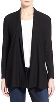 Eileen Fisher Petite Women's Jersey Knit Straight Cut Long Cardigan