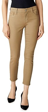 J Brand Mid-Rise Cropped Skinny Jeans in Coated Lalia