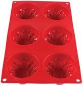 Restaurant Essentials 3.89 oz. Dahlia High Heat Silicone Baking Mold (6 Cavities)