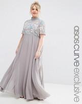 Asos High Neck Embellished Maxi Dress