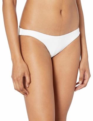 RVCA womens White Noise Medium Coverage Bikini Bottom M