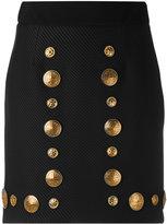 Fausto Puglisi metallic embellished skirt - women - Viscose/Spandex/Elastane/Acetate/Polyamide - 42