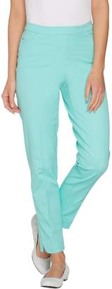 Isaac Mizrahi Live! Petite 24/7 Stretch Ankle Pants with Pockets