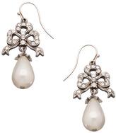 Ben-Amun Ben Amun Crystal Bow Pearl Drop Earrings