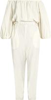 Rachel Comey Off-the-shoulder silk and linen-blend jumpsuit
