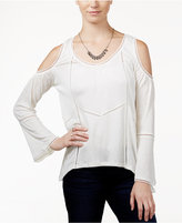 American Rag Cold-Shoulder Peasant Top, Only at Macy's