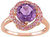 JCPenney FINE JEWELRY Genuine Amethyst and Pink Sapphire Ring