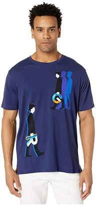 Robert Graham Walk Like RG T-Shirt (Sapphire) Men's Clothing
